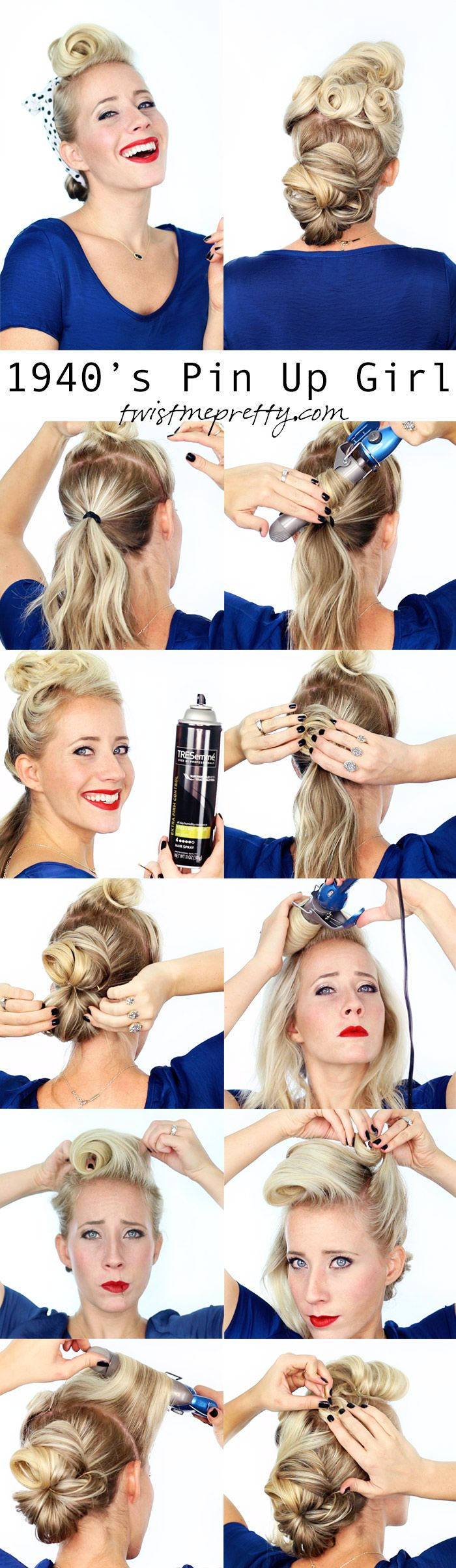 Superb 1000 Ideas About Victory Rolls Tutorial On Pinterest Victory Short Hairstyles For Black Women Fulllsitofus