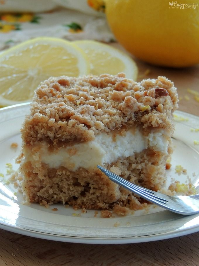 Lemon & Cream Cheese Coffee Cake Perfect for Brunch