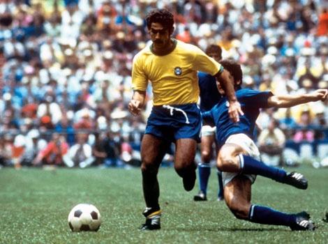 Roberto Rivelino, who played three Fifa World Cups (1970 - 1974 - 1978) with Brazil