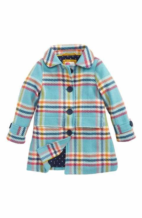 fbe72be07ac6 Mini Boden Check Wool Blend Coat (Toddler Girls