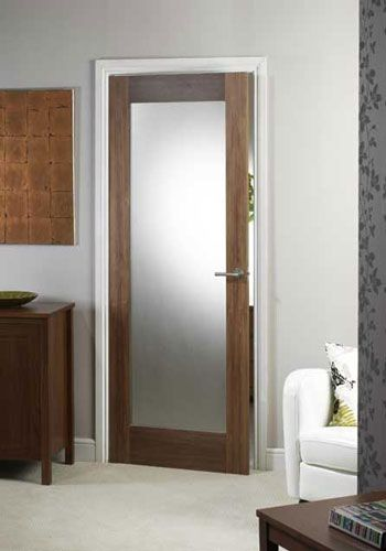 Porto Walnut Glazed Internal Door #walnutglazeddoors