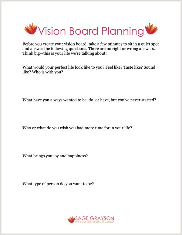 How To Make a Vision Board - Sage Grayson Coaching