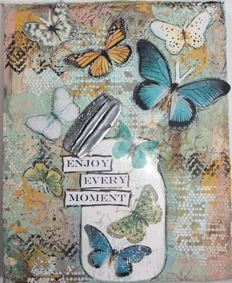 Chic Scrapbook Designs by Limor Webber: Beautiful mixed media canvas w/ video of the creation