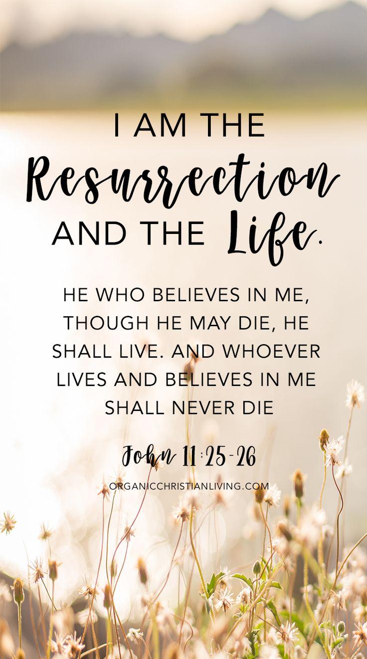 Easter Bible Verses   Scripture Quotes   Bible Quotes   Christian Quotes  Bible Verses Quotes   Scripture Verses   John 11:25-26