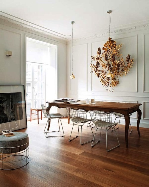 Antique Table Modern Chairs Loris Decoration