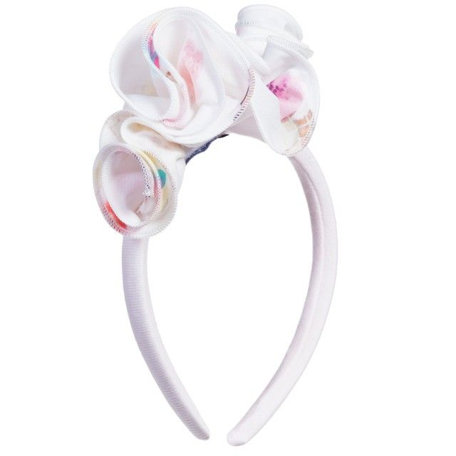 Balloon Chic - Pale Pink Hairband with Ice Cream Ruffles | Childrensalon