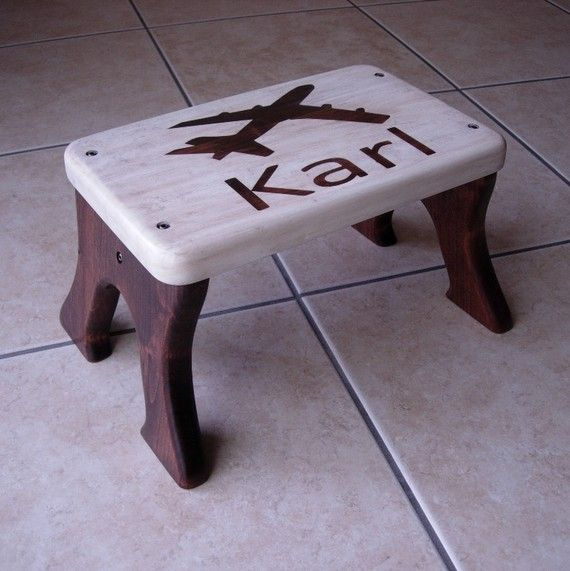 Airplane Personalized Step Stool by LaffyDaffy @ Etsy.com & 61 best I Did It - Step stools for children. images on Pinterest ... islam-shia.org