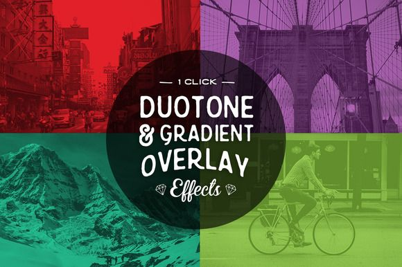 Duotone Photoshop Actions by skyboxcreative on Creative Market
