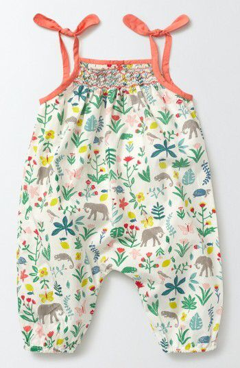 Mini Boden Summer Days Floral Romper