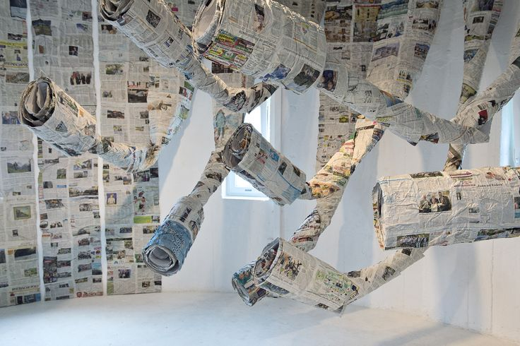 "Almyra Weigel. Installation ""In Flow"". Newspaper."