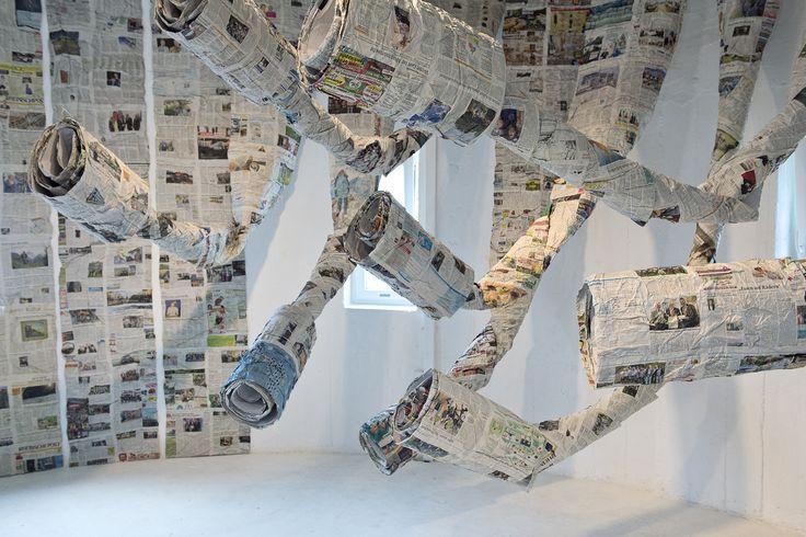 "Almyra Weigel. Installation ""In Flow"". Newspaper."