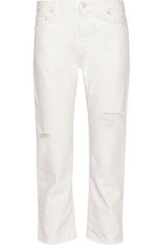 Acne Studios Pop Trash cropped distressed boyfriend jeans   NET-A-PORTER