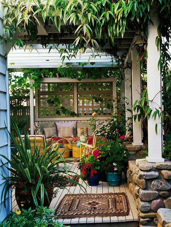 Jardim de inverno na área exterior.  Fotografia: http://www.decorfacil.com
