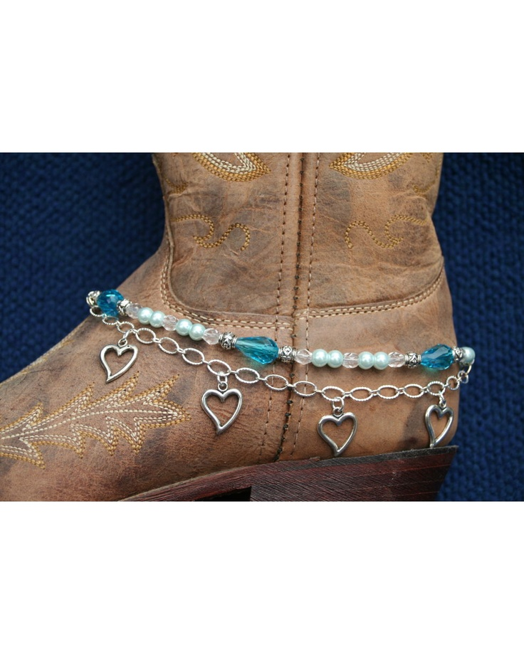 If I must wear shoes...these will help!            Boot Candy Sapphire Crystals, Pearls and Hearts