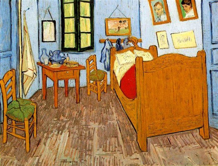 Vincent's Bedroom in Arles, 1889 by Vincent van Gogh. Post-Impressionism. interior. Musée d'Orsay, Paris, France