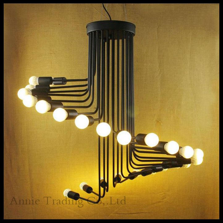 220Industrial Art Decro Style Retro Living Room Cafe Bar Spiral Staircase Lustre Pendant Lights Vintage Stair