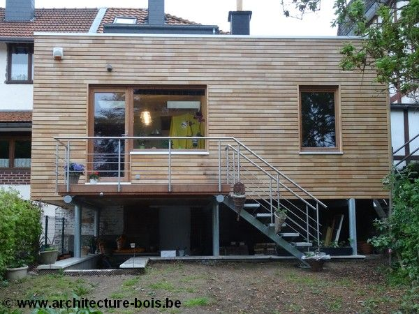 53 best pilotis images on pinterest cabins house on for Extension maison 53
