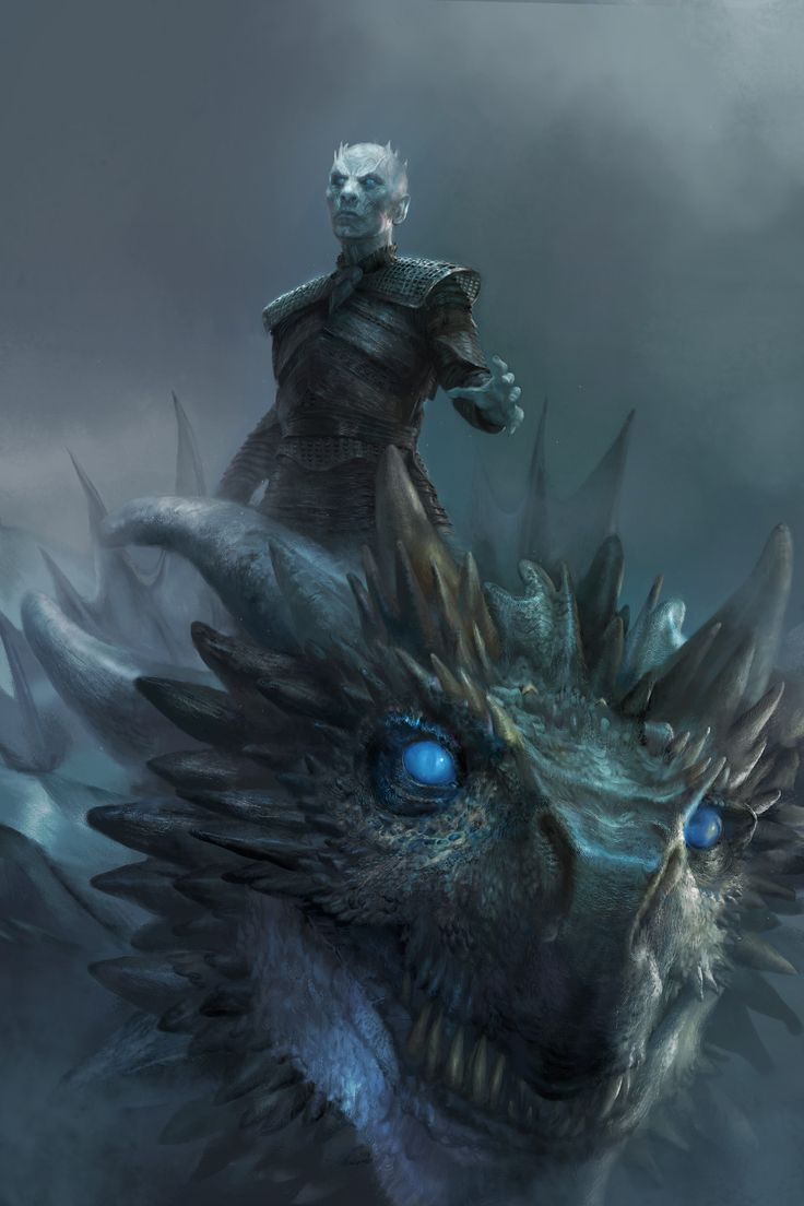 "spassundspiele: ""Night King & Viserion – Game of Thrones fan art by MICHAEL CHANG """