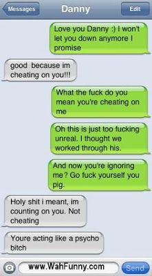 Ha!...damn autocorrect...maybe he should have text back sooner then lol