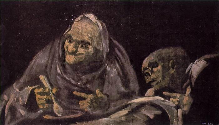 "Goya - ""Old Men Eating"" 1820-23"