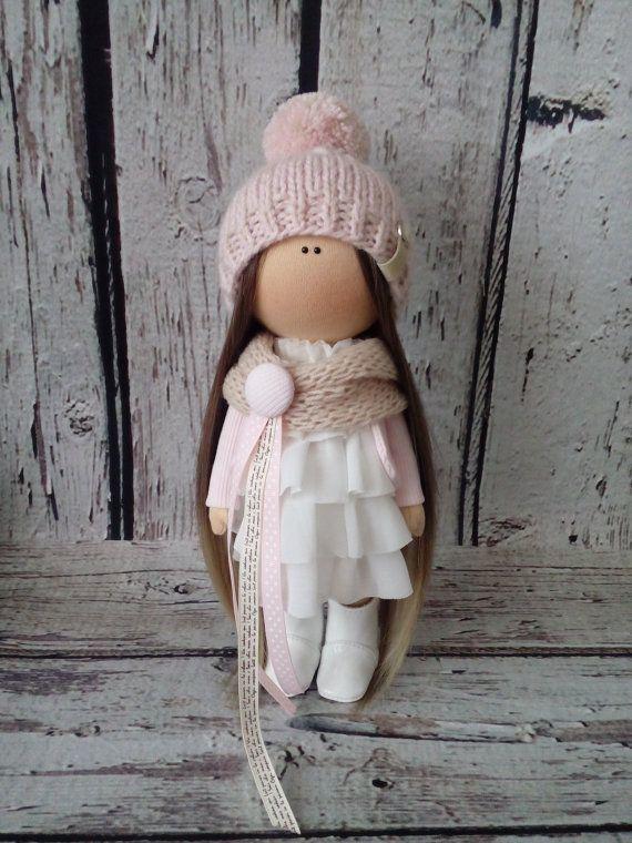 Blondy doll Interior doll Tilda doll Art doll by AnnKirillartPlace