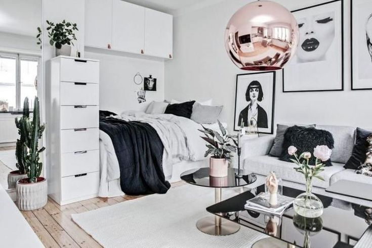 59 Elegant Scandinavian Interior Design Decor Ideas For Small Spaces Interiordesign Small Space Interior Design Studio Apartment Decorating Apartment Design #small #scandinavian #living #room