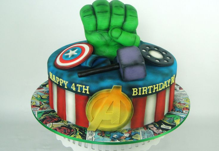There Should Always Be Cake - AVENGERS POWER BIRTHDAY CAKE