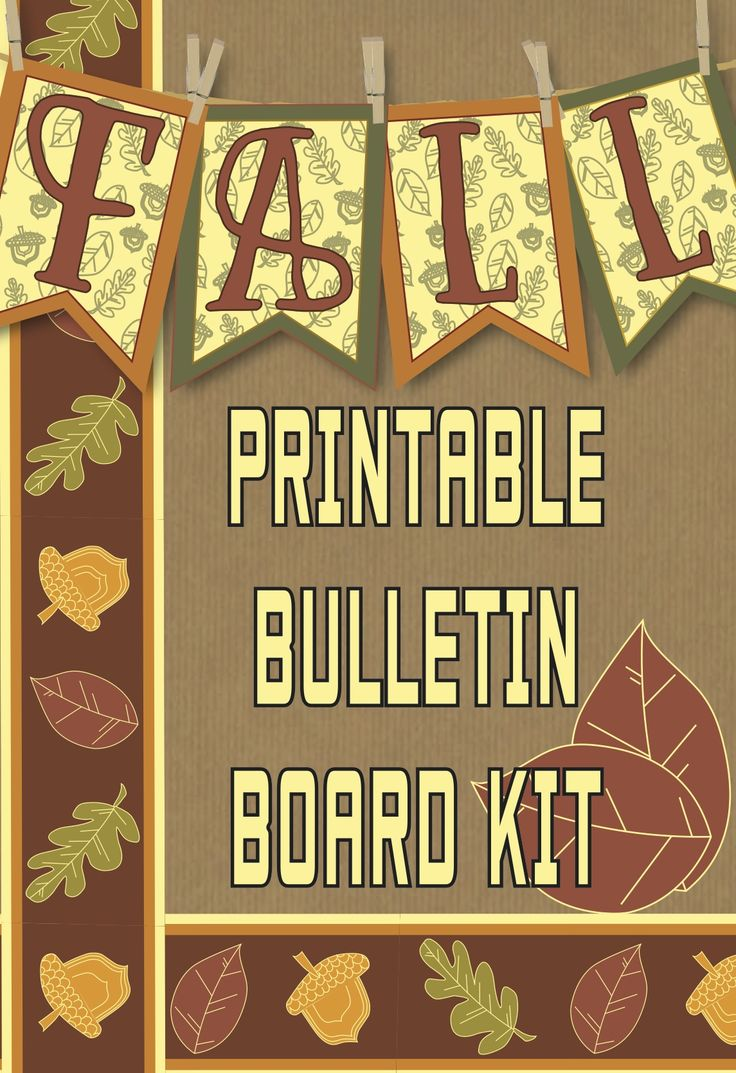 The Fall Printable Banner Bulletin Board Kit provides everything you need to spruce up your classroom. Included in the kit is a color FALL banner, color border, color/black and white fall shapes, pattern page, leaf writing activity and Favorite Fall Memory frame. All images included in the kit are in PDF format.