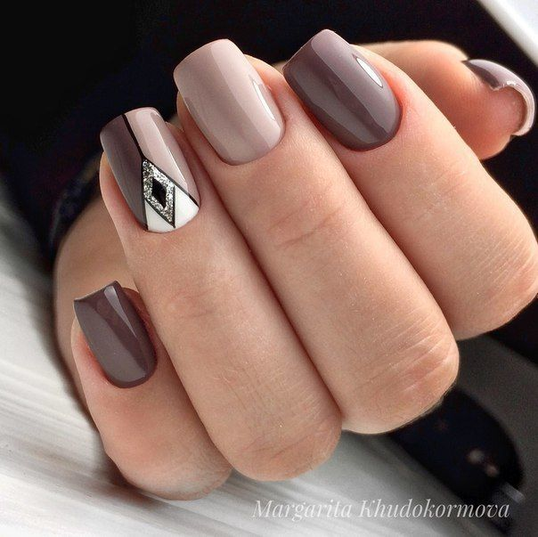 Ногти дизайн 2018 фото Geometric Nail Art Design #nails #nailart