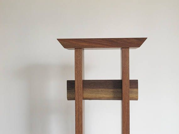 Solid Walnut Statement Entry Table Tall Narrow Entryway