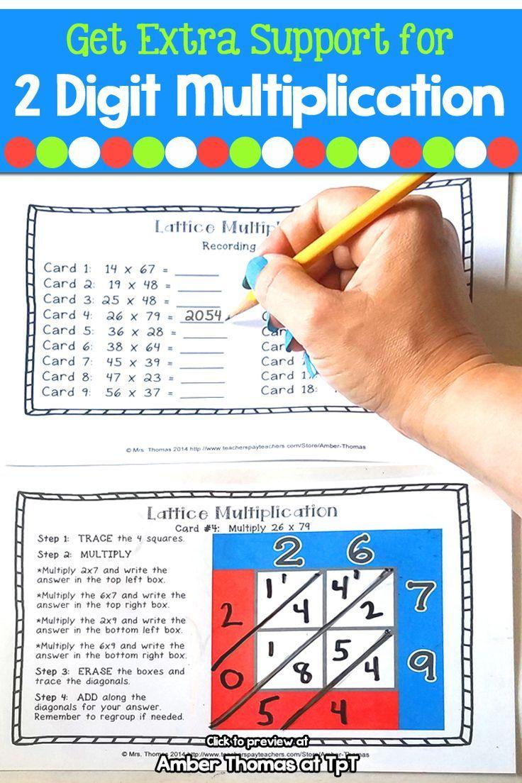 medium resolution of Lattice Multiplication Task Cards   Multiplication task cards