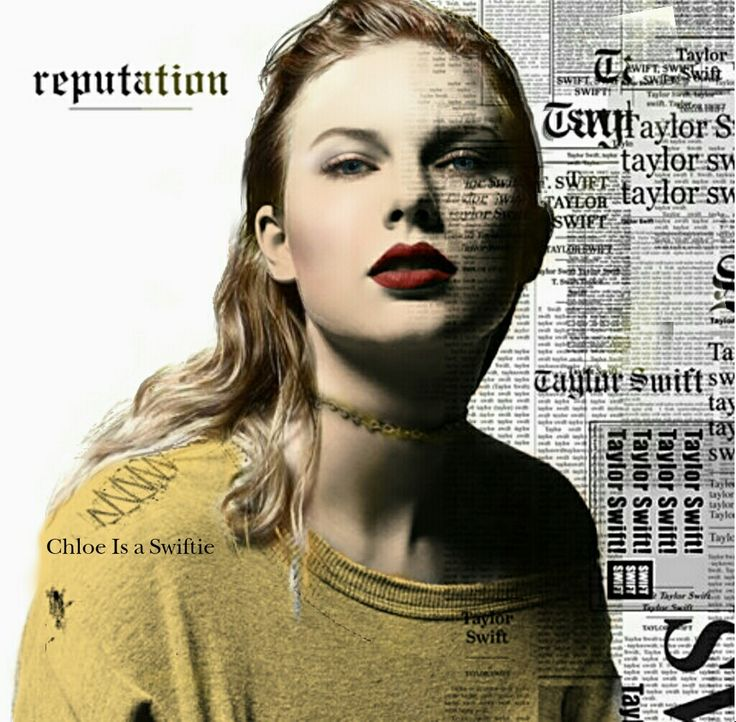 Taylor Swift Reputation Album Cover Recolour by Chloe Is a Swiftie