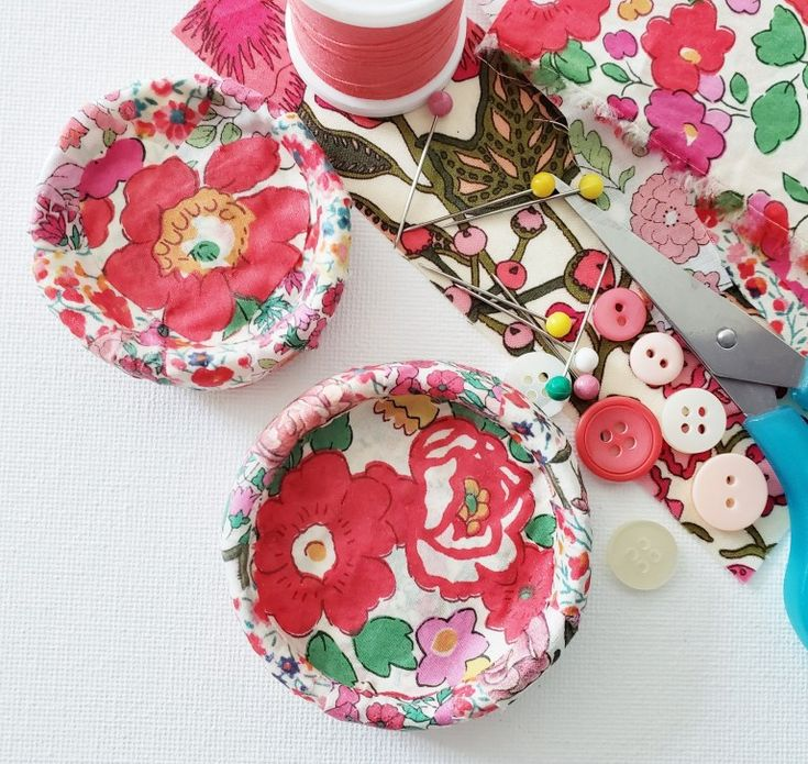 DIY Liberty Fabric Decoupage Clay Dish Tutorial Diy air