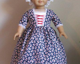 Zwei Ton lila Chevron kolonialen Kleid mit Pinner von MotherofNine