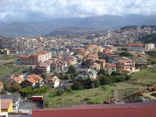 I will visit this city one day!  It's the town of Mistretta located in Sicily, Italy!  Mistretta is my maiden name and where my father's side of the family originated!