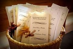 How to Word a Wedding Bulletin