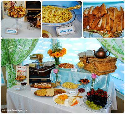 Food at a Sound of Music Party {Made by a Princess Parties in Style}