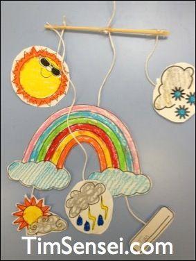 Maros kindergarten: Spring weather crafts! Spring weather mobile