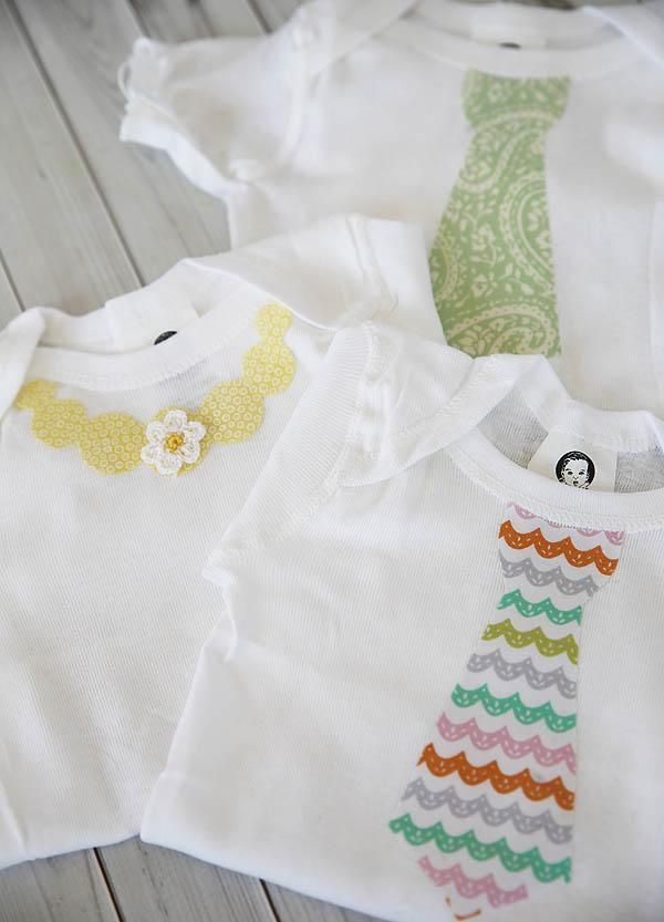How to decorate baby onesies using printed fabric