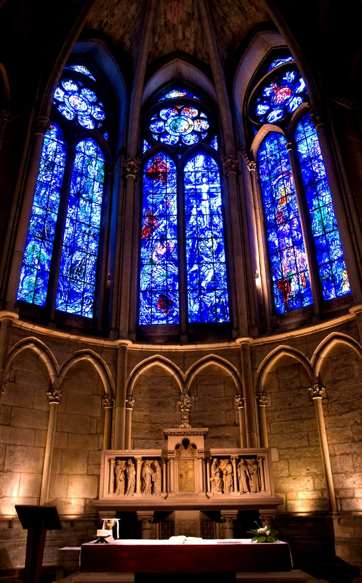 Reims Cathedral stained glass by Marc Chagall.