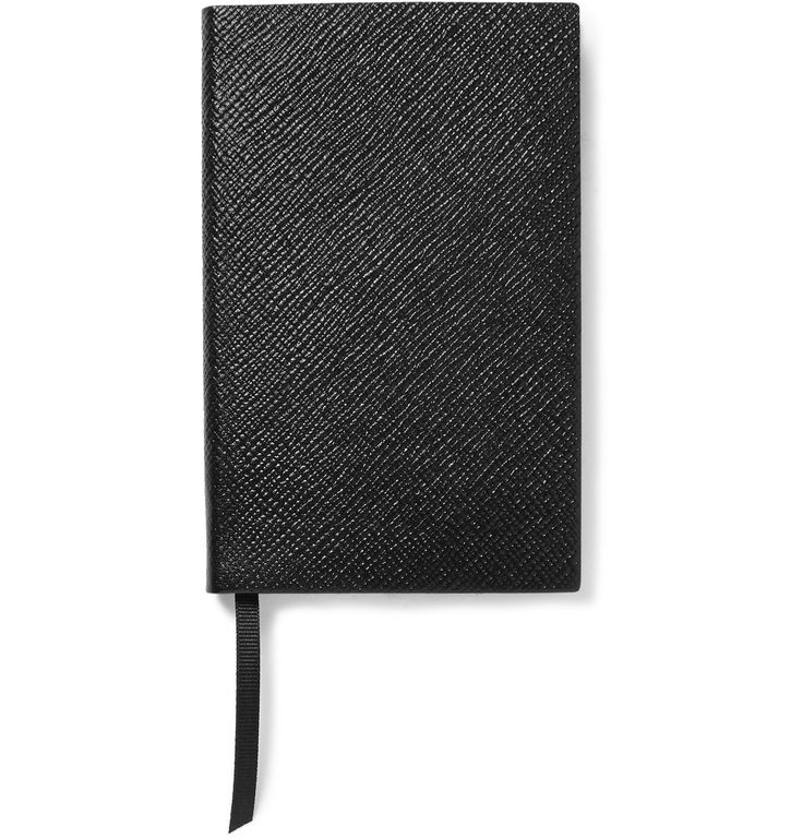 The first portable diary Mr Frank Smythson created in 1908 was nicknamed 'the Panama hat of books'. Drawing inspiration from the original collection, this 'Panama' notebook is made from flexible cross-grain leather that can be bent, rolled and folded without losing shape. The signature 'Featherweight' paper is ideal for jotting down your thoughts and a grosgrain page-marker holds the spot for reference.