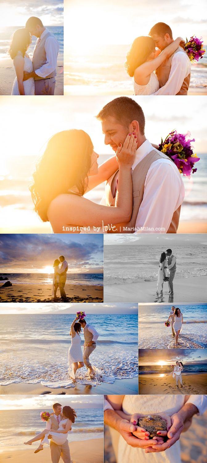 Maui Vow Renewal: Betsy & Jon at Maluaka Beach by Mariah Milan Photography.  This is us!!!  <3