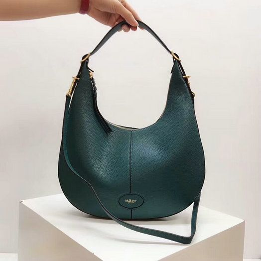 2018 Mulberry Small Selby Hobo Bag in Deep Sea Small Classic Grain Leather c062bbabf2ea4