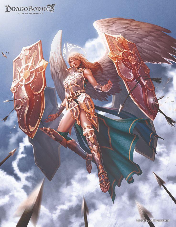 Escutcheon Angel for Bushiroad's Dragoborne by Gunship Revolution Freelance Art Studio