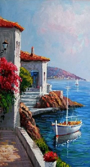 Pinturas Al Oleo Marinas Buscar Con Google Nice Things