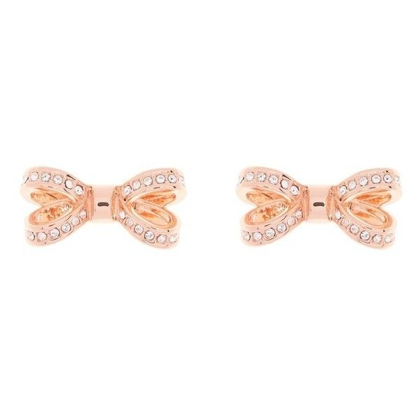 Women S Ted Baker London Mini Opulent Pave Bow Stud Earrings 405