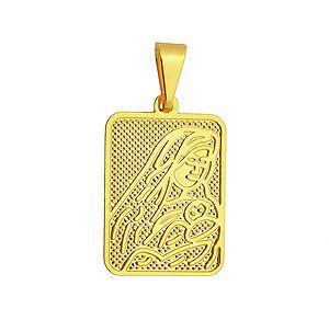 Medalha da Mãe Rainha folheada a ouro
