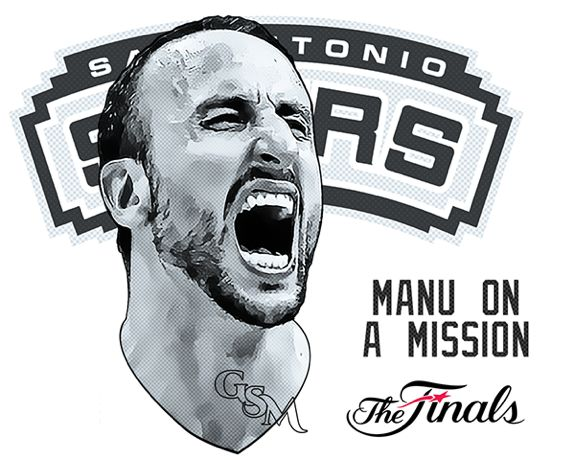 """Faces of the NBA Finals 'Spurs' - """"Manu On A Mission"""""""