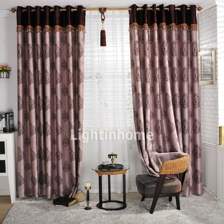 Oriental Patterned Overstock Modern Pink Blackout Curtains