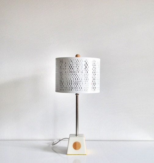 The Simple Lamp with Wood Dot by REGOllc on Etsy, $75.00